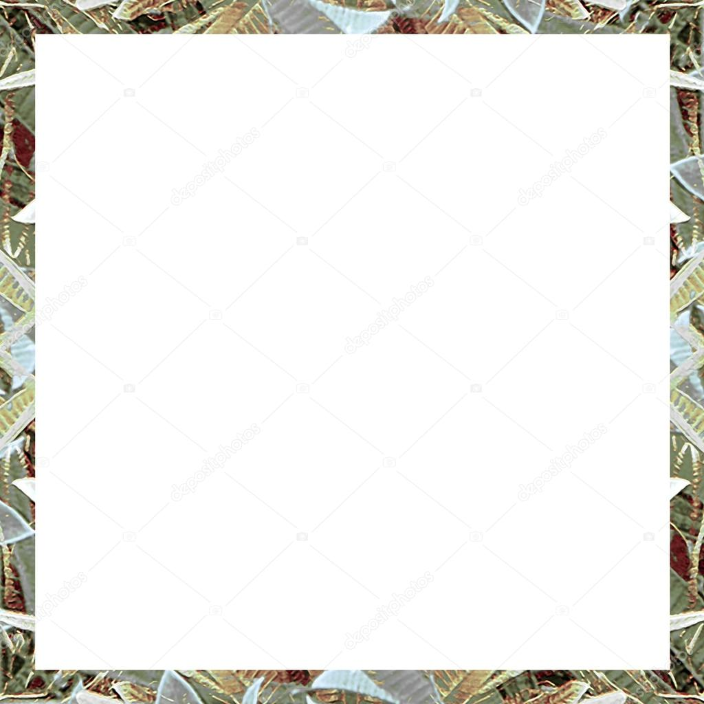 White Frame with Abstract Collage Borders — Stock Photo ...