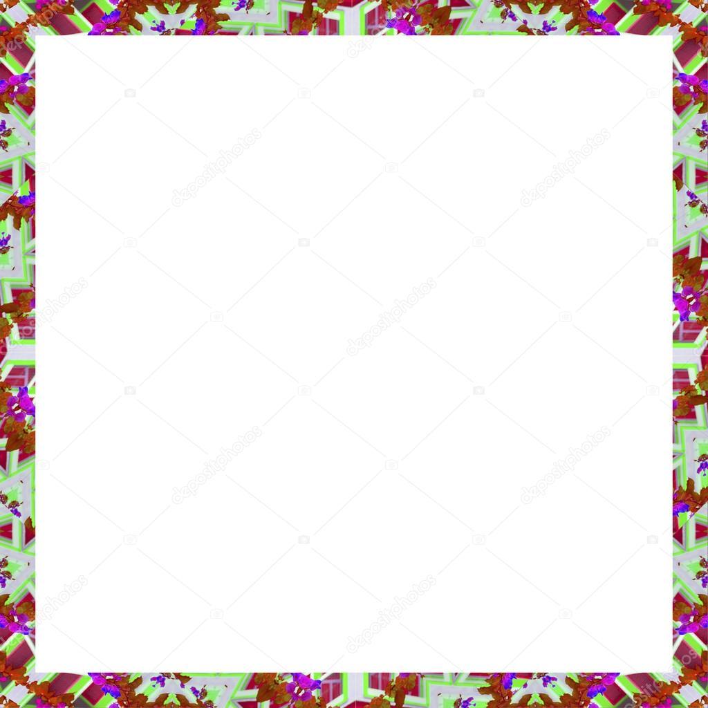 Marco cuadrado blanco con bordes decorados — Fotos de Stock ...
