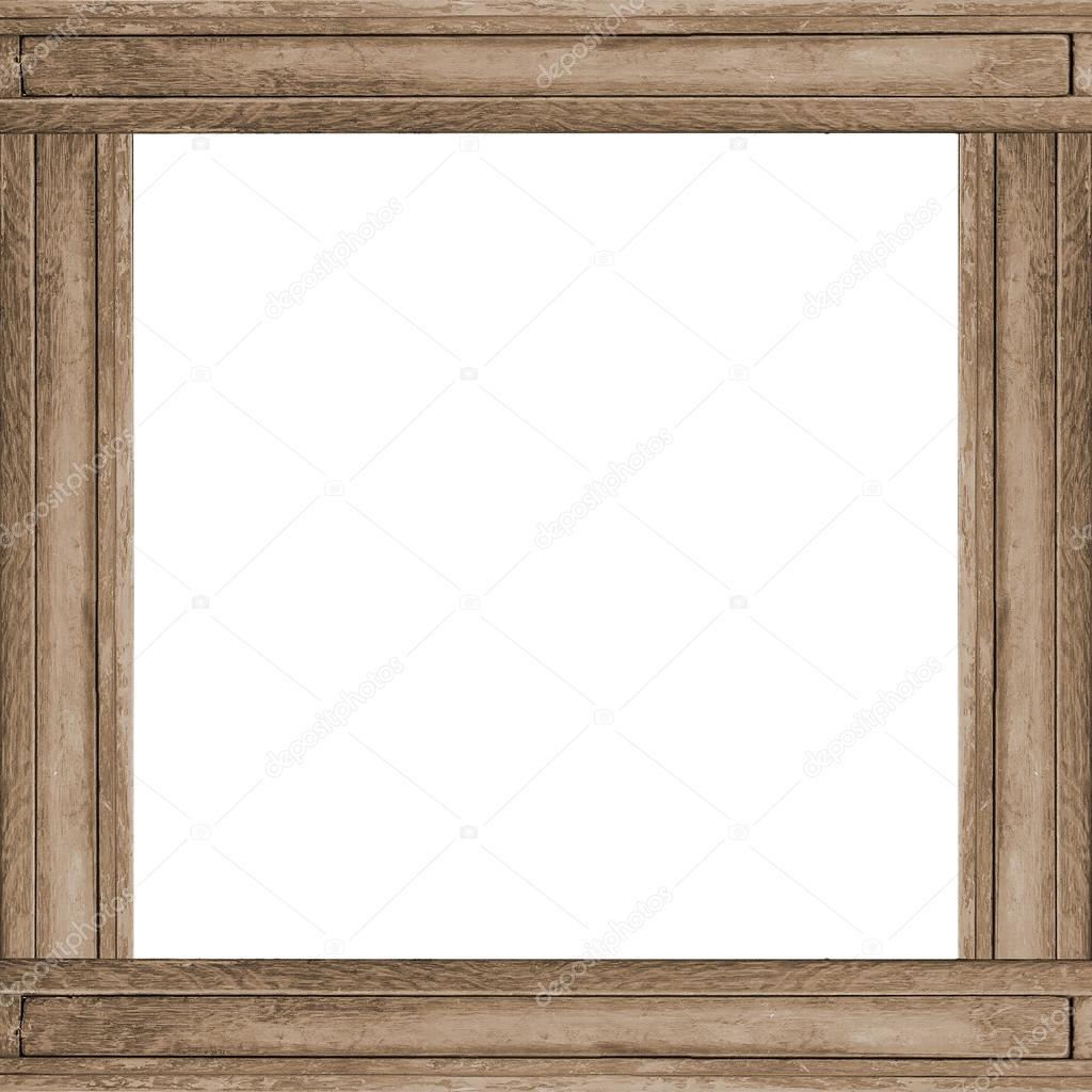 Fondo de marco de madera cuadrado — Foto de stock © DanFLCreativo ...