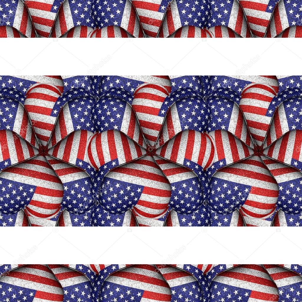 Weißen Hintergrund mit Usa Flagge Muster Grenzen — Stockfoto ...