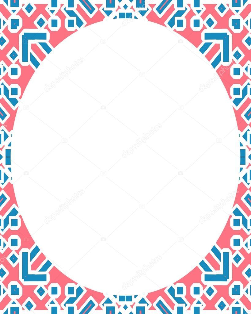 Kreis weißen Rahmenhintergrund mit verzierten Rahmen — Stockfoto ...