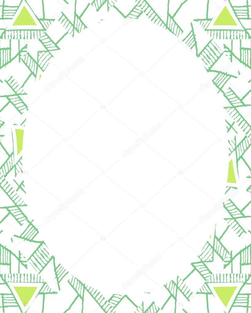 Fondo de marco de círculo con bordes decoradas diseño étnico — Foto ...