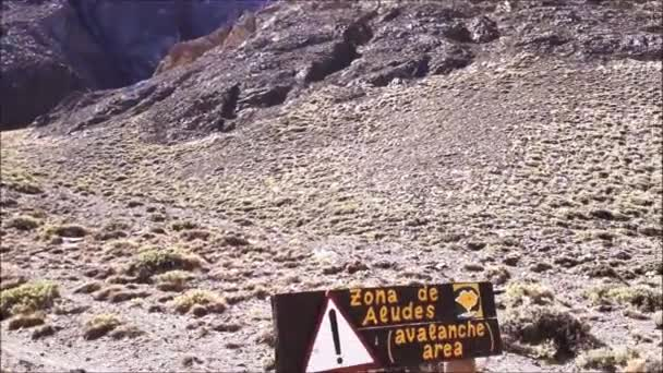 Avalanche area at acongagua national park, mendoza, argentina