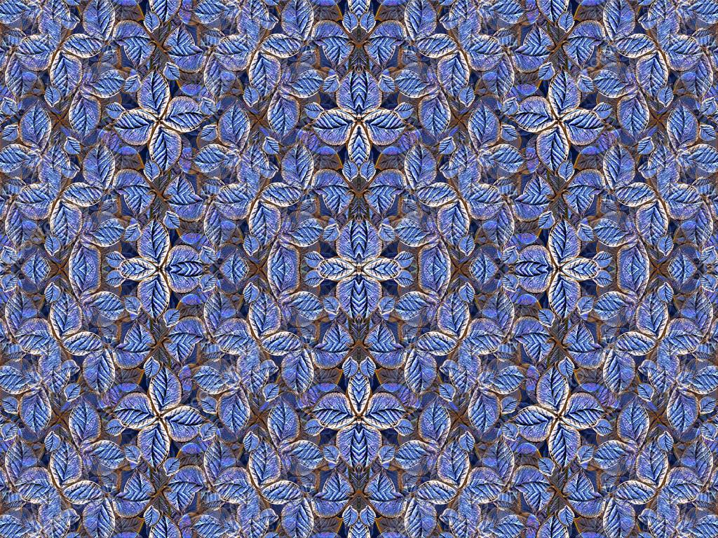 Artificial Floral Pattern in Navy Colors