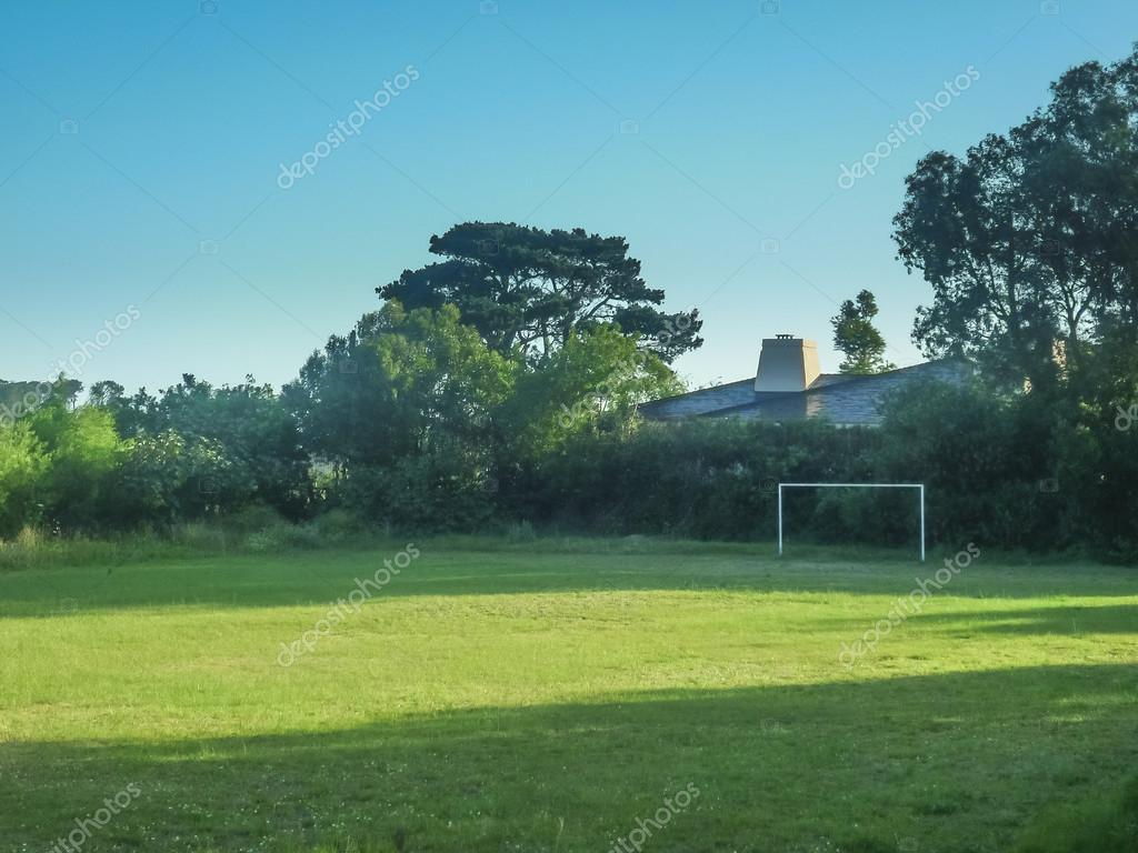 House with Soccer Field