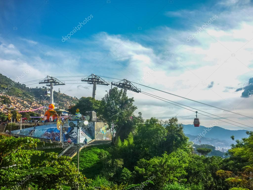 Medellin Aerial View From Cableway