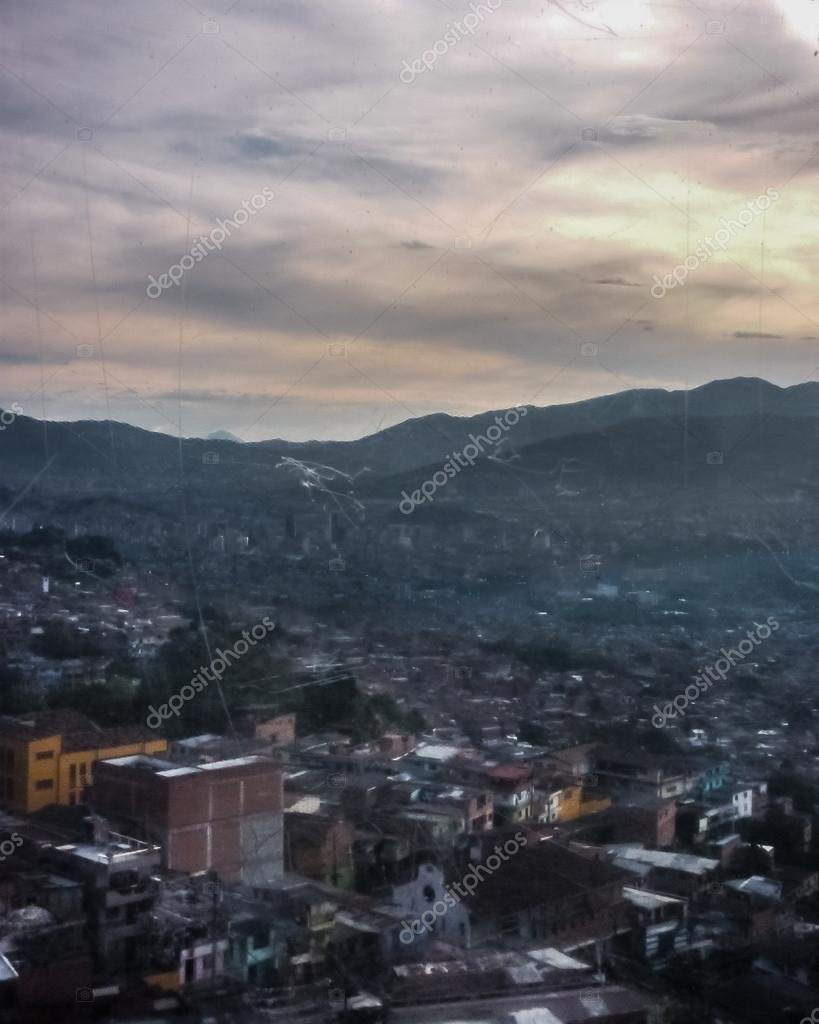 Aerial View of Poor Town in Medellin