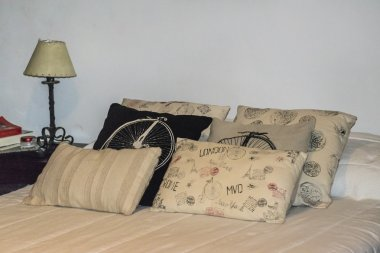 Decorated Pillows at Bedroom
