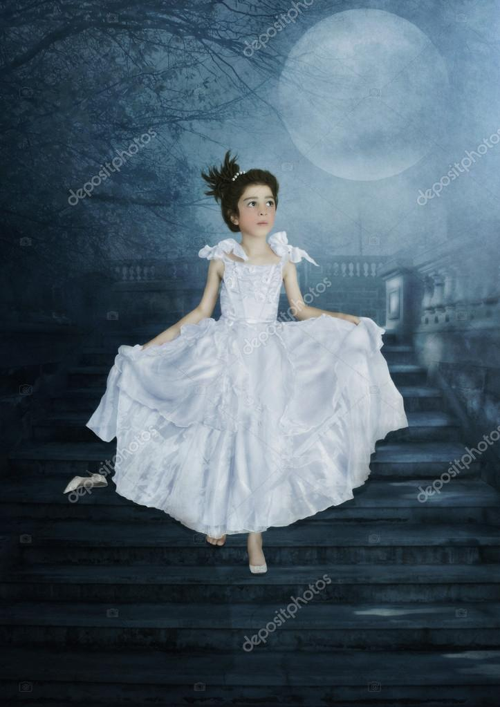 Cinderella on stairs