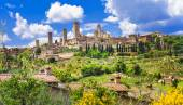 Fotografie schöne Italien Landschaften. San Gimignano - Toskana