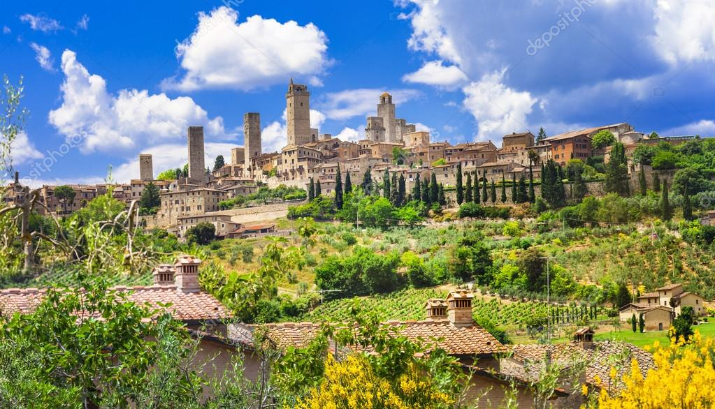 beautiful Italy landscapes. San Gimignano - Tuscany