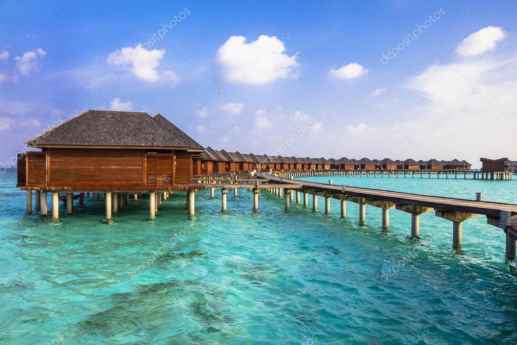 Maldives islands- water bungalow