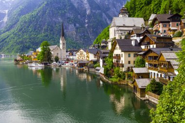 lake and beautiful village Halstatt
