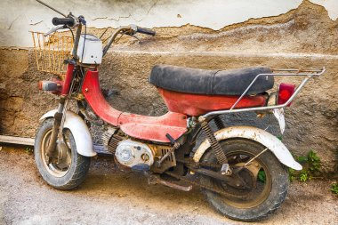 old retro motorbike
