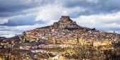 Fotografie Impressive view of medieval village Morella Castellon, Valencian province