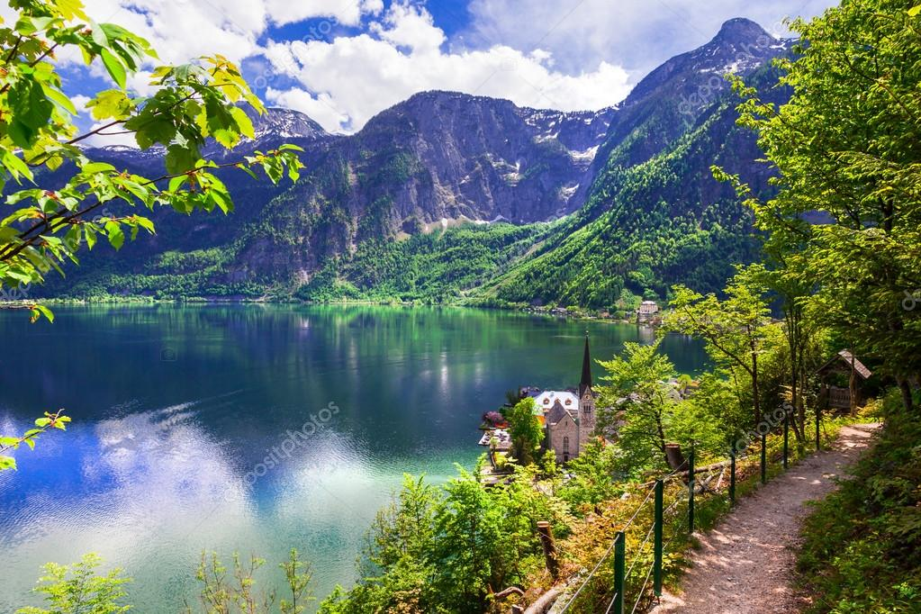 Hallstatt  - picturesue lake and village in Austrian Alps