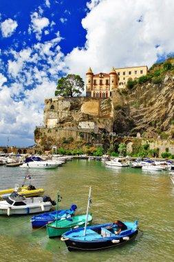 pictorial Amalfi coast - Maiori village, Italy