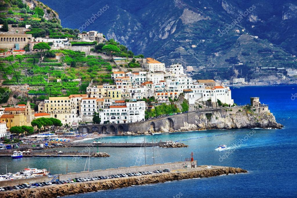 pictorial coastal town Amalfi , Italy
