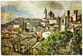 Fotografia Città medievali di opera Italia - Bergamo, nello stile della pittura