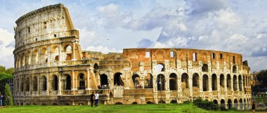 Panorama of great Colosseo,  Rome