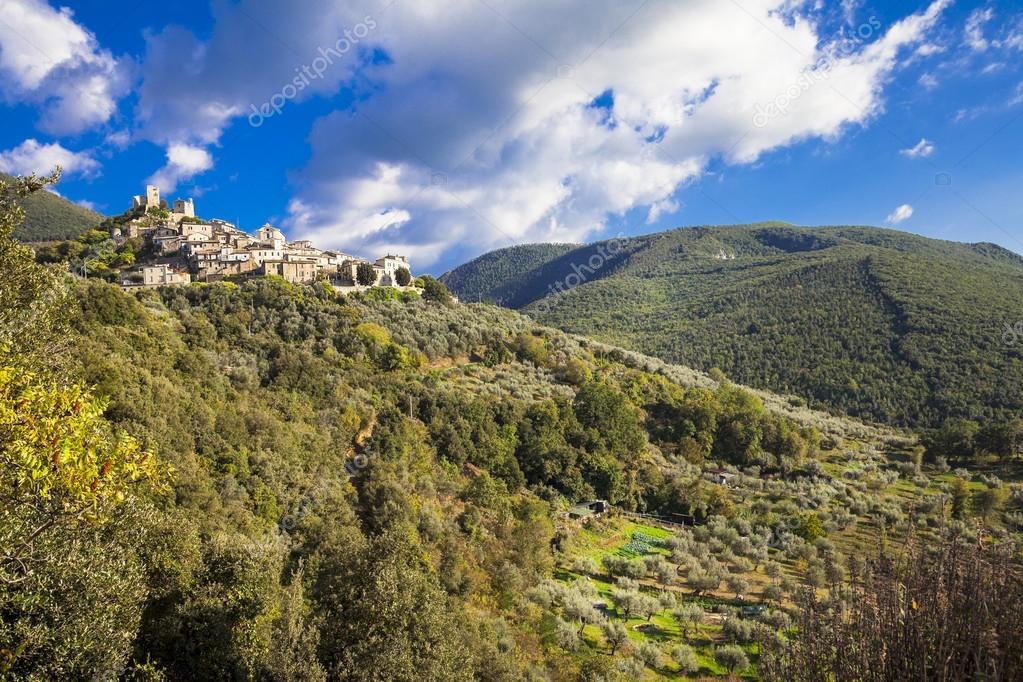 Roccantica - typical hil top village in Italy. Rieti region