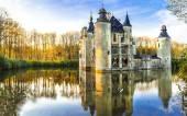 Photo fairytale medieval castles of Europe.Belgium, Antwerpen region