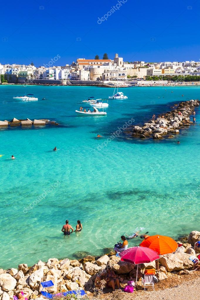 Otranto - beautiful town with azure beach in Puglia, Italy