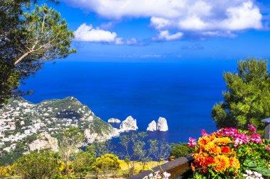 Italian holidays - Capri island, view with Faraglioni rocks