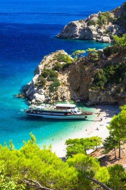 turquoise beaches of Greece - impressive Apella in Karpathos island