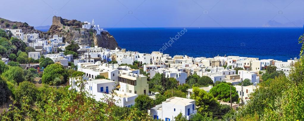 beautiful Greek islands - Nisyros (Dodecanese) panorama of Mandraki