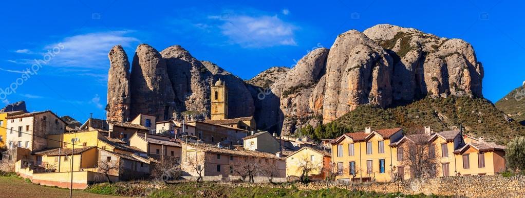 fantastic rocky landscapes -Aguero Mountains, Huesca, Aragon, Spain