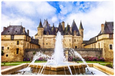 Beautiful castles of France - Jumilhac-le-grand, artsitic picture