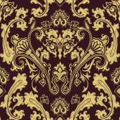 Vector pattern inspired by  paisley. Damask seamless pattern, te