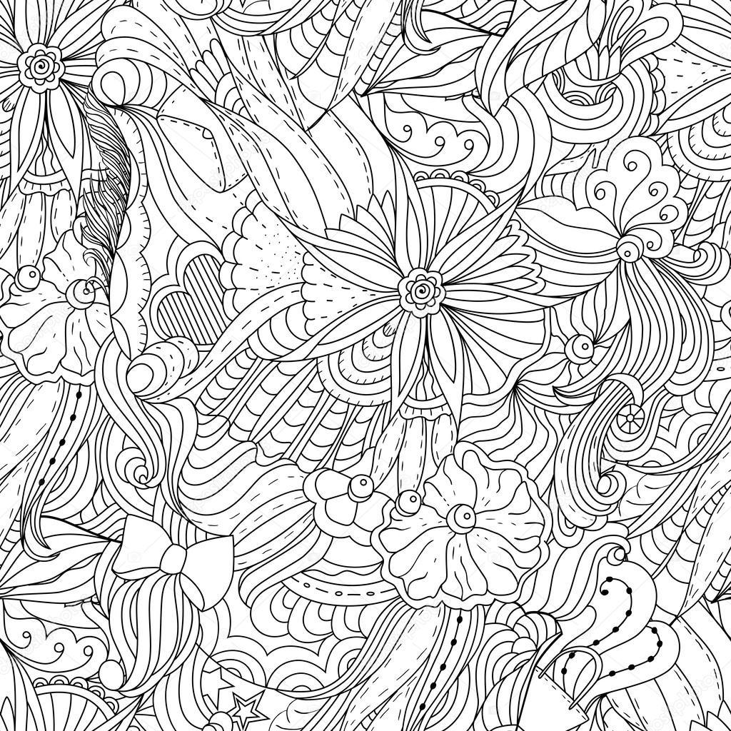 Seamless-Fashion Gekritzel Muster — Stockvektor © Natikka #61428337