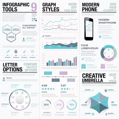 Purple infographics. Business vector elements, bars and graphs.