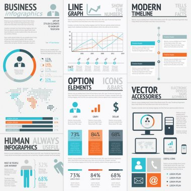 Business graphics data visualization vector element infographics