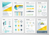 Fotografie Business info graphics vector elements for corporate brochures