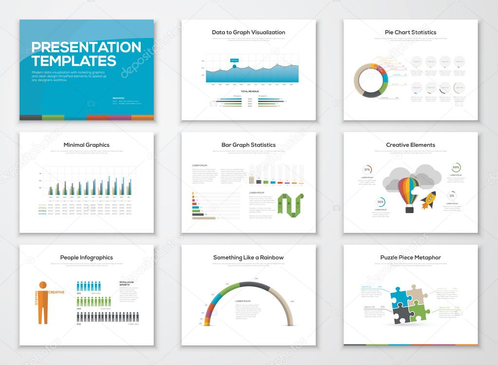 presentation slide templates and business vector brochures stock