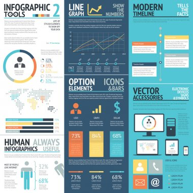 Business infographics vector elements in flat business colors