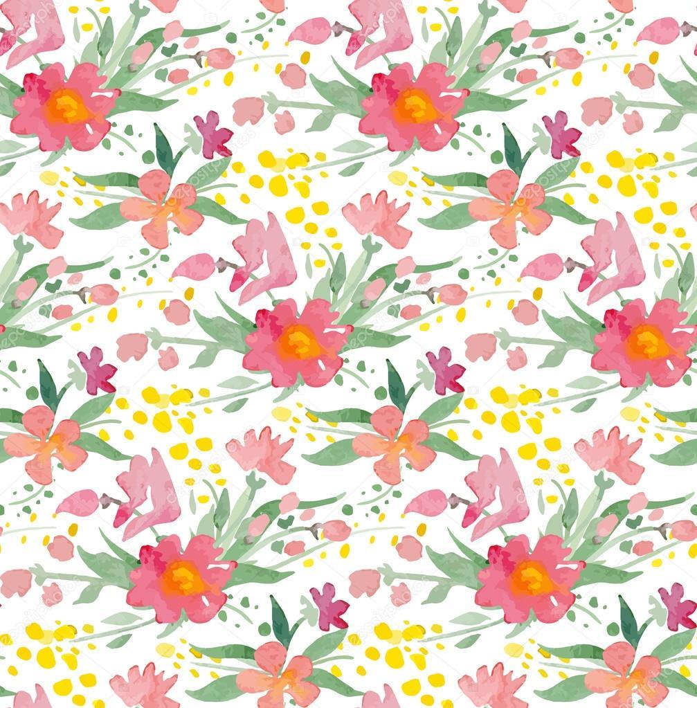 Patrón Transparente Con Flores