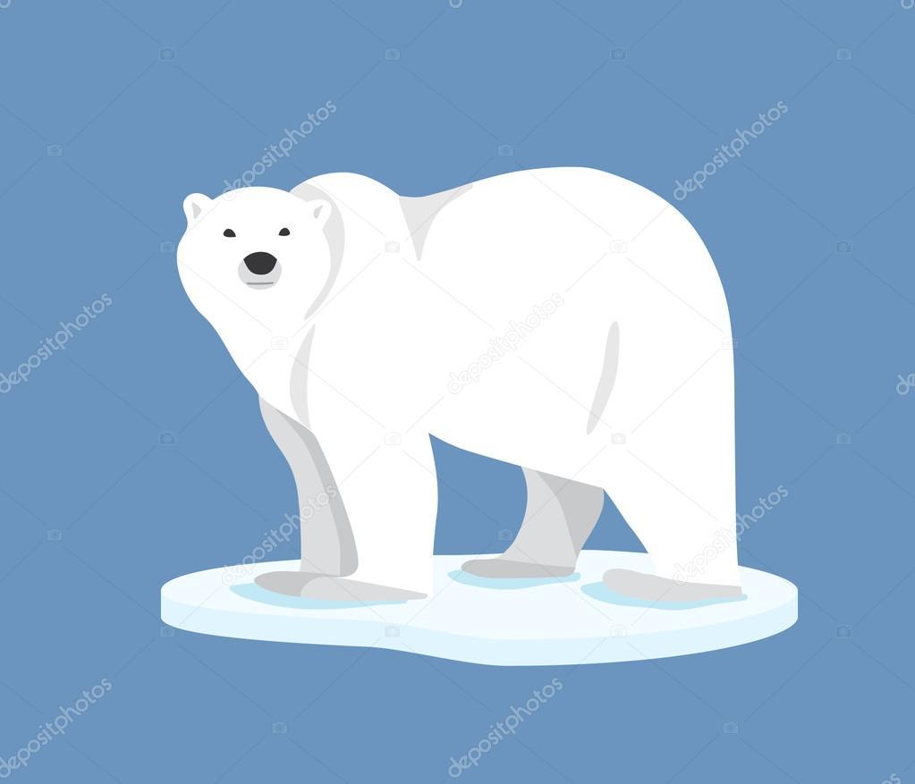 流氷側面に立っているシロクマ ストックベクター Olgalebedeva
