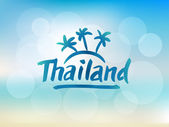 Photo Thailand hand drawn lettering
