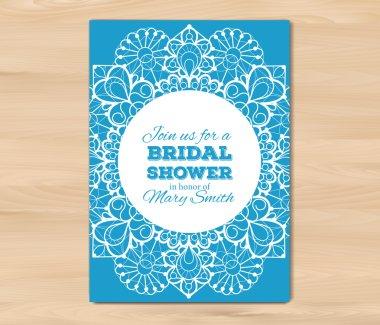 Wedding invitation, card template