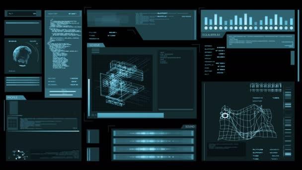 Digitální rozhraní obrazovka