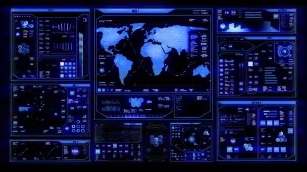 Futuristic command center interface (loop ready)