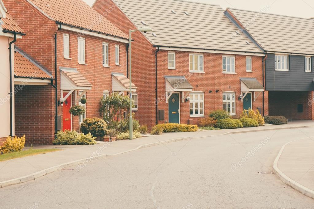 Modern newly built housing development