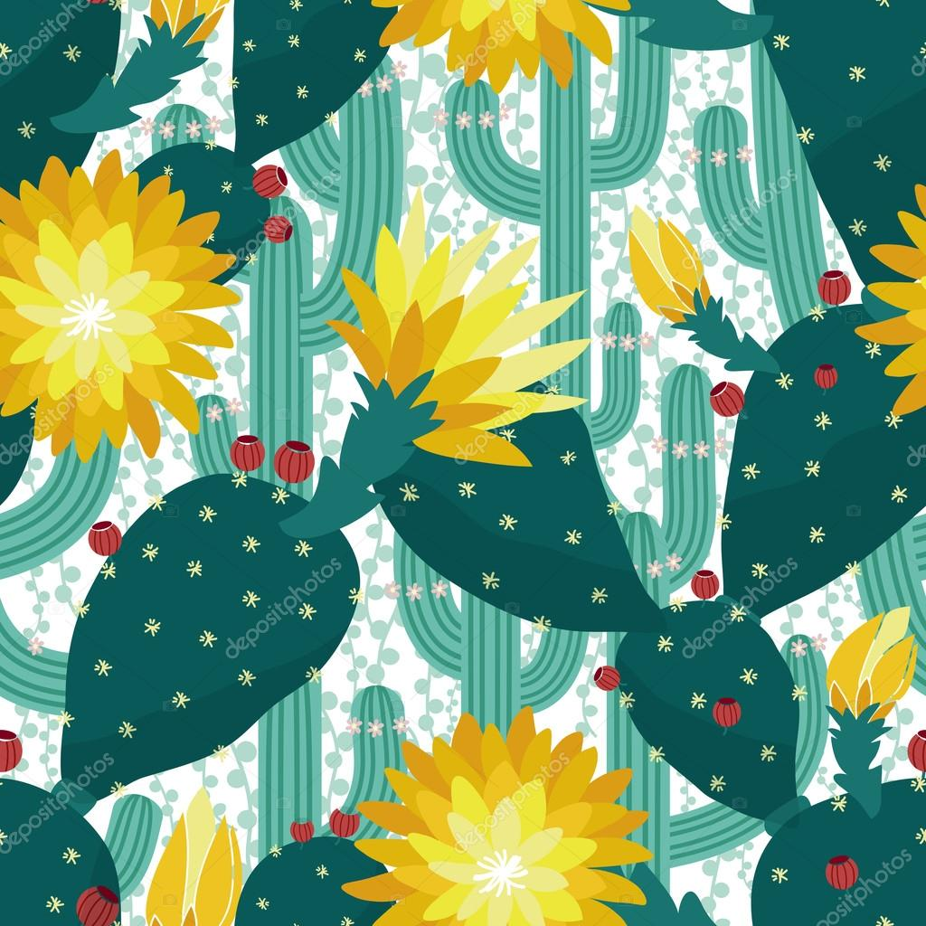 Seamless cactus background