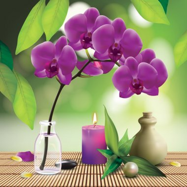 Spa Composition With Orchid