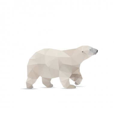 Abstract bear isolated on a white background