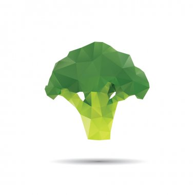 Broccoli abstract isolated on a white backgrounds